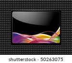 glossy plaque with swirl plaque | Shutterstock .eps vector #50263075