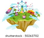 theme park on floating island   ...