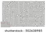 large vector horizontal maze... | Shutterstock .eps vector #502638985