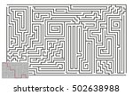 large vector horizontal maze... | Shutterstock .eps vector #502638988