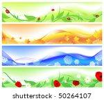 horizontal four seasons web... | Shutterstock .eps vector #50264107