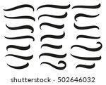 hand lettering underlines set.... | Shutterstock .eps vector #502646032