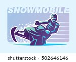 snowmobile. sport emblem | Shutterstock .eps vector #502646146
