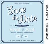 wedding invitation vintage card ... | Shutterstock .eps vector #502651906