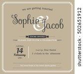 wedding invitation vintage card ... | Shutterstock .eps vector #502651912