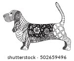 Basset Hound Zentangle Stylize...