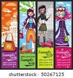 Urban Shopping Girls   Banners...