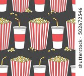 collection of popcorn and... | Shutterstock .eps vector #502672546