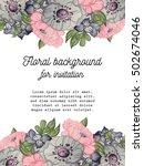vintage delicate invitation... | Shutterstock . vector #502674046