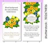 vintage delicate invitation... | Shutterstock . vector #502674856