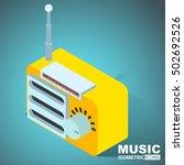 old radio. isometric | Shutterstock .eps vector #502692526