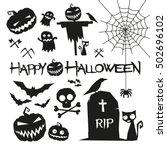Halloween Elements. Happy...