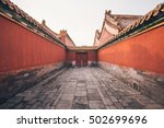 Red Narrow Passageway In The...
