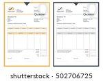 vector quotation design... | Shutterstock .eps vector #502706725