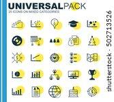 set of 25 universal editable... | Shutterstock .eps vector #502713526