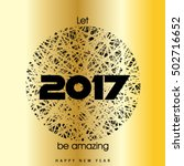 happy new year 2017 layout... | Shutterstock .eps vector #502716652