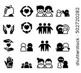 friendship   friend icons | Shutterstock .eps vector #502720282