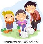 stickman illustration of kids... | Shutterstock .eps vector #502721722