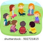 stickman illustration of a... | Shutterstock .eps vector #502721815