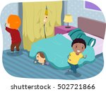 stickman illustration of kids... | Shutterstock .eps vector #502721866