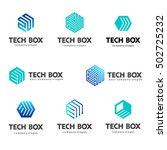 logo template hexagon design.... | Shutterstock .eps vector #502725232