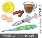 medical icon set | Shutterstock .eps vector #50273116
