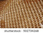 honeycomb cardboard cells... | Shutterstock . vector #502734268