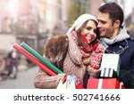 picture showing young couple... | Shutterstock . vector #502741666