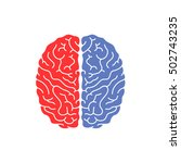 logical and creative human... | Shutterstock .eps vector #502743235