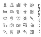 medical line icons. vector... | Shutterstock .eps vector #502746772