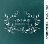 vintage background | Shutterstock .eps vector #50274700