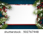 christmas blue background with... | Shutterstock .eps vector #502767448