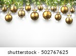 new year background with golden ... | Shutterstock .eps vector #502767625
