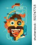 conceptual illustration with... | Shutterstock .eps vector #502767715