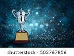 abstract silver trophies with... | Shutterstock . vector #502767856