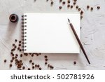 blank sheet of paper and... | Shutterstock . vector #502781926
