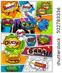 comic book page divided by... | Shutterstock .eps vector #502783336
