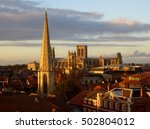 York England View Over Rooftop...