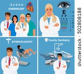 set of doctors and physicians ...   Shutterstock .eps vector #502808188