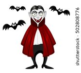 vampire for halloween isolated... | Shutterstock .eps vector #502808776