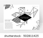 geometric background template... | Shutterstock .eps vector #502811425
