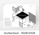 geometric background template... | Shutterstock .eps vector #502813528