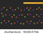 garlands  christmas decorations ... | Shutterstock .eps vector #502815706