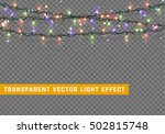garlands  christmas decorations ... | Shutterstock .eps vector #502815748