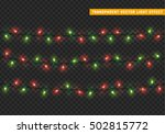garlands  christmas decorations ... | Shutterstock .eps vector #502815772