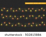 garlands  christmas decorations ... | Shutterstock .eps vector #502815886