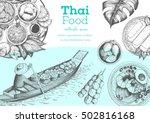 asian food background. asian... | Shutterstock .eps vector #502816168