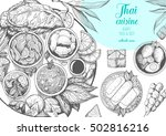 asian food background. asian... | Shutterstock .eps vector #502816216