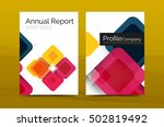geometric abstract background ... | Shutterstock . vector #502819492