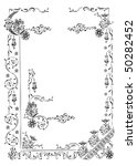 antique frame engraving ... | Shutterstock .eps vector #50282452